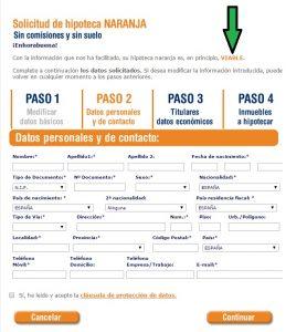 Solicitar Hipoteca ING paso 3