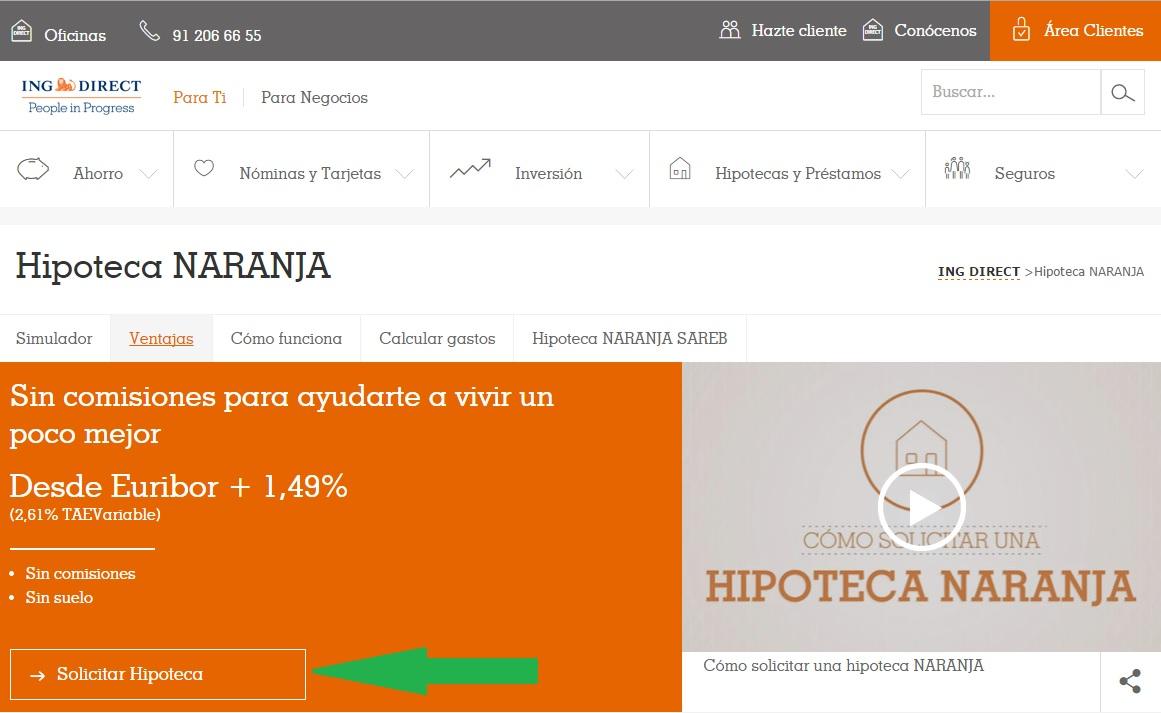 Hipoteca naranja ing rebaja el diferencial al for Simulador hipoteca ing